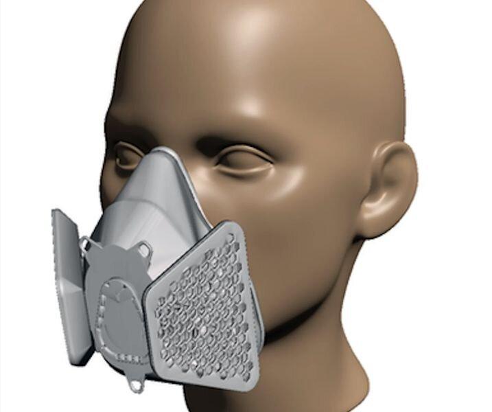 A 3D printable respirator mask [Source: Makers Mask]