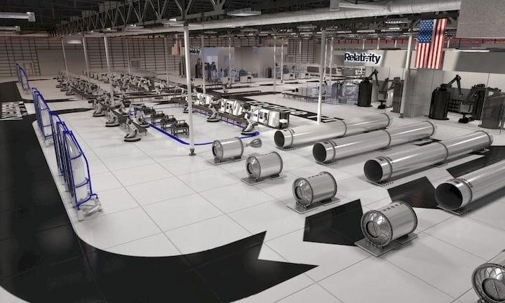 Relativity Space's 3D print factory [Source: TechCrunch]