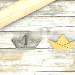 Barchetta origami formina taglierina per biscotti | Boat Origami Cookie Cutter