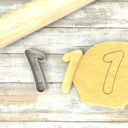 Numero 1 formina taglierina per biscotti  Number 1 Cookie Cutter