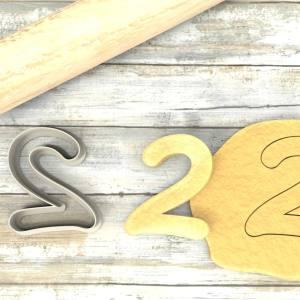 Numero 2 formina taglierina per biscotti |Number 2 Cookie Cutter