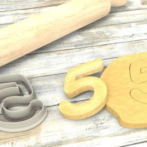 Numero 5 formina taglierina per biscotti |Number 5 Cookie Cutter