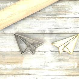 Aeroplano origami formina taglierina per biscotti   Airplane Origami Cookie Cutter