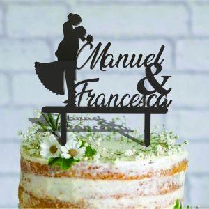Cake Topper personalizzato Sposi con nome