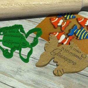 Stampino Pesce colorato personalizzabile