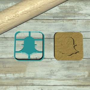 Snapchat logo cookie cutter