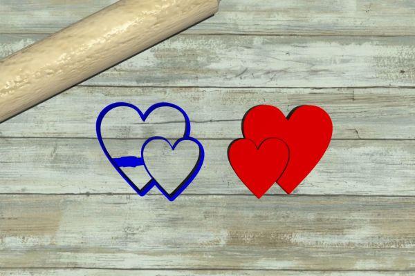 Saint Valentine hearts