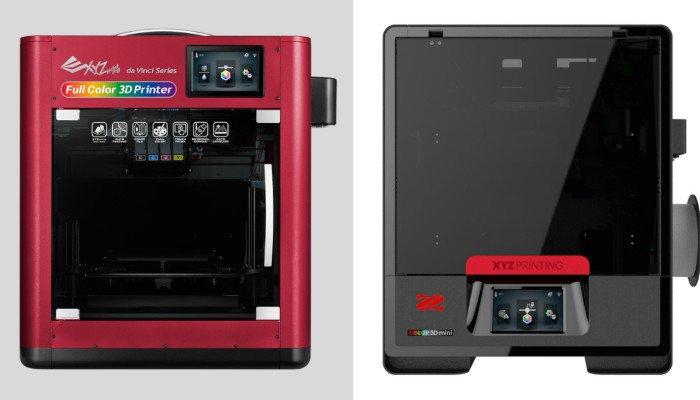 da vinci color and da vinci color mini 3d printers