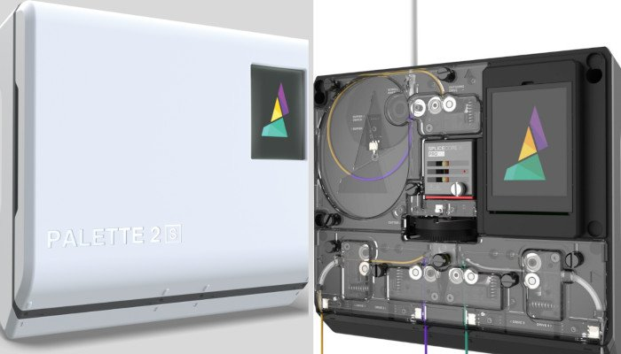 palette 2s filament splicer multi color 3d printing adaptor