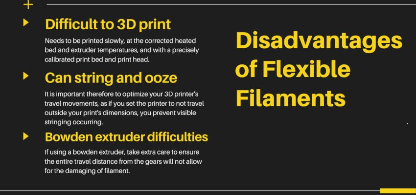 disadvantages of flexible filaments
