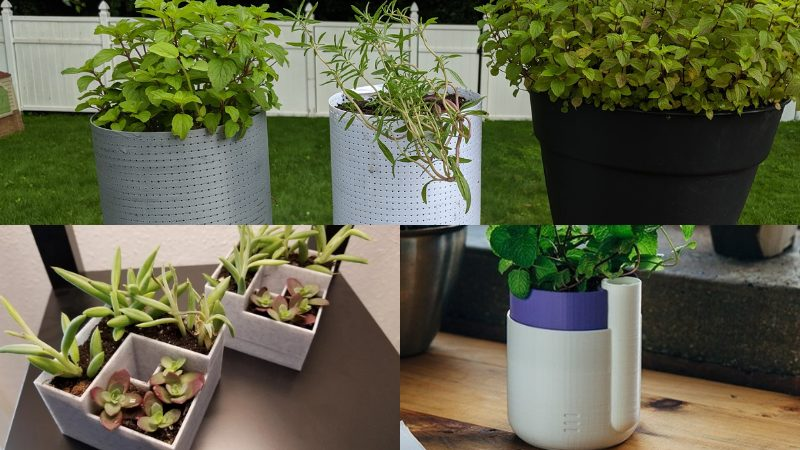 Functional 3D printed plant pots, cool 3D printed objects