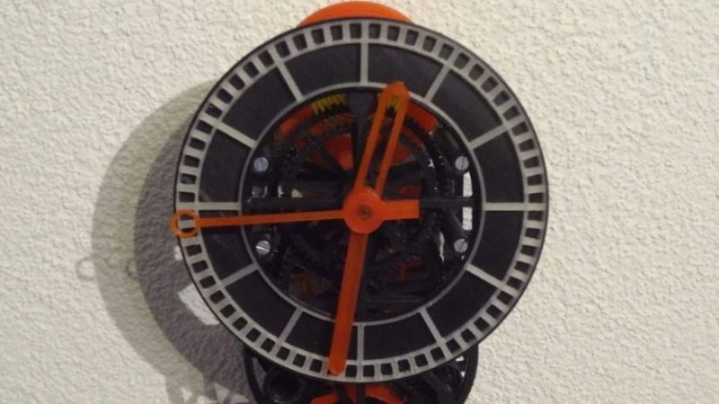 3D printed clock project with working mechanism