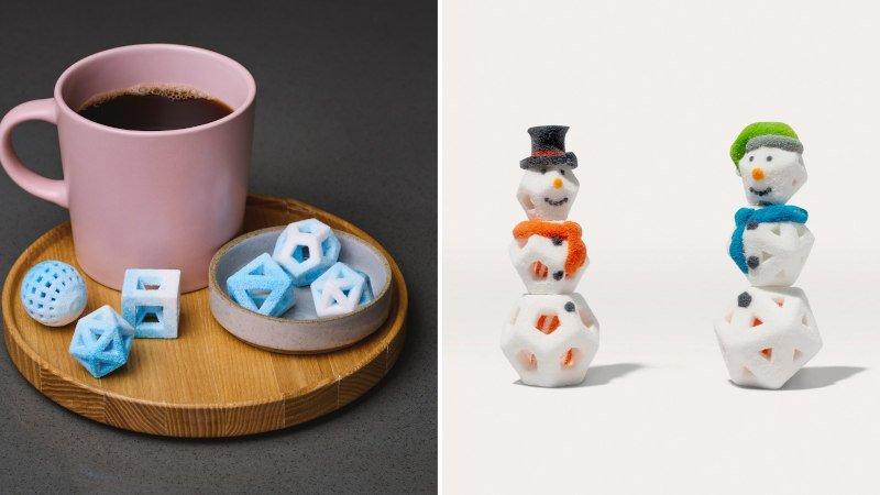 3d printed sugar desserts