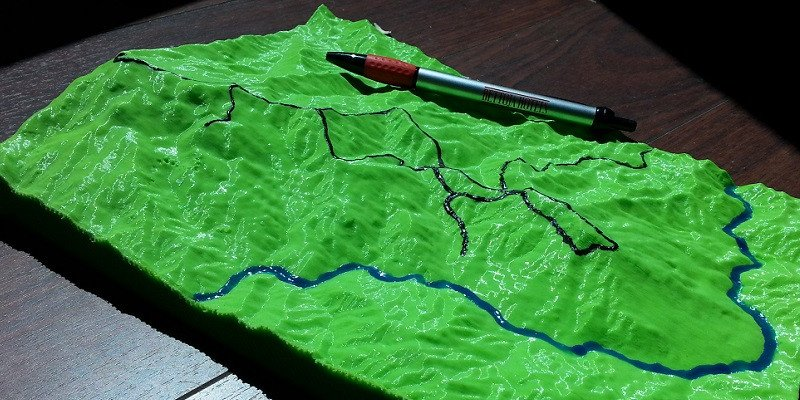 Paper 3D Printed Geological Model