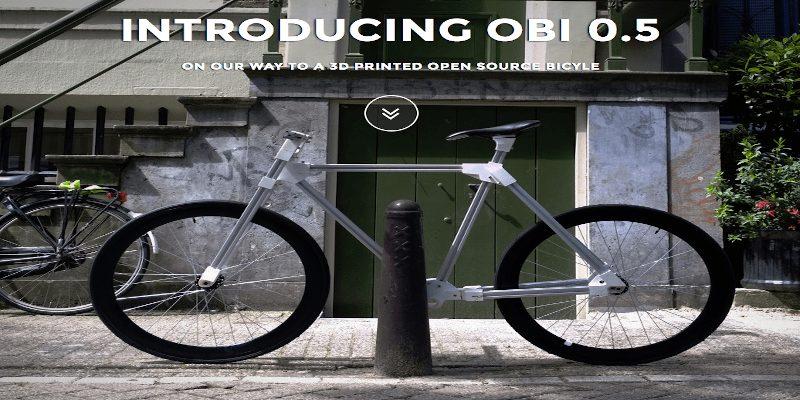 Fully 3D printed bike prototype Obi