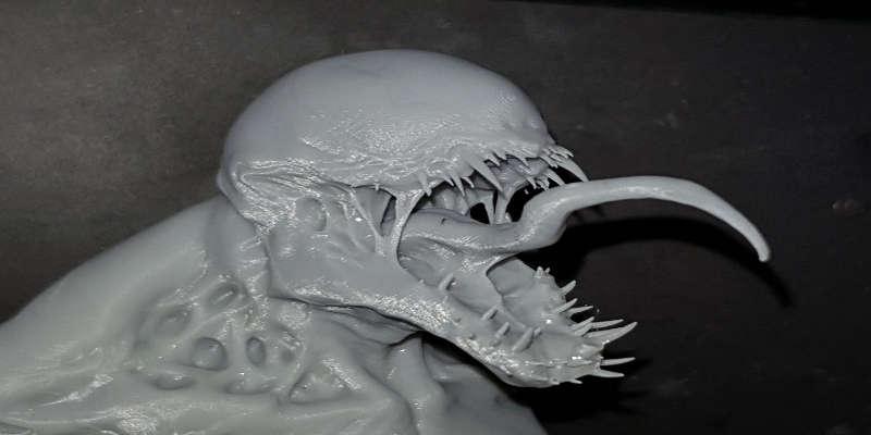 DIY 3D resin printer results Carnage small print