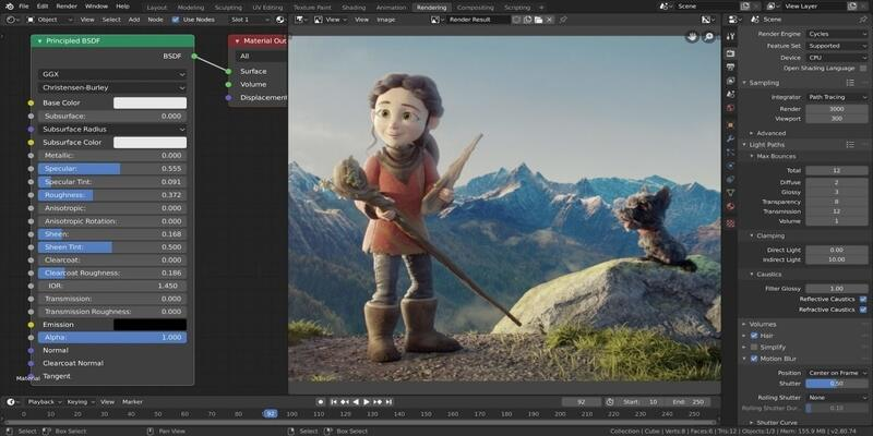 Blender 3D rendering software