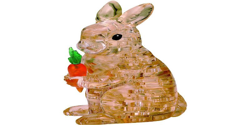 3D Animal rabbit crystal puzzle