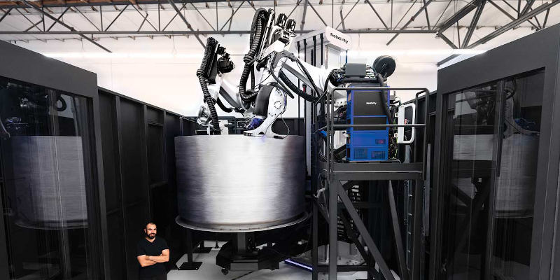 Stargate factory for 3D printing rockets. Relativity space have the largest metal 3D printer in the world