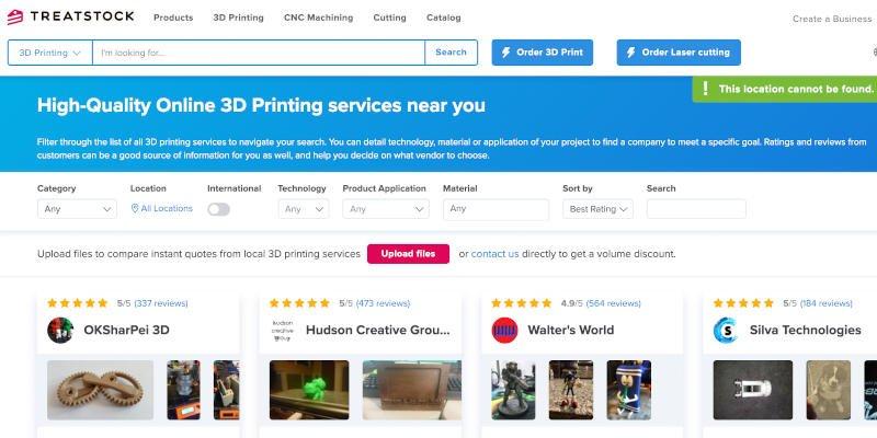 treatstock 3d printing marketplace
