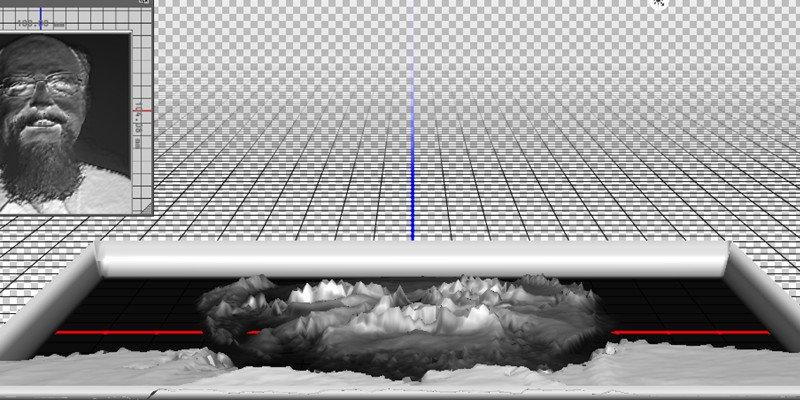 Lithophane 3D modelling on Photoshop