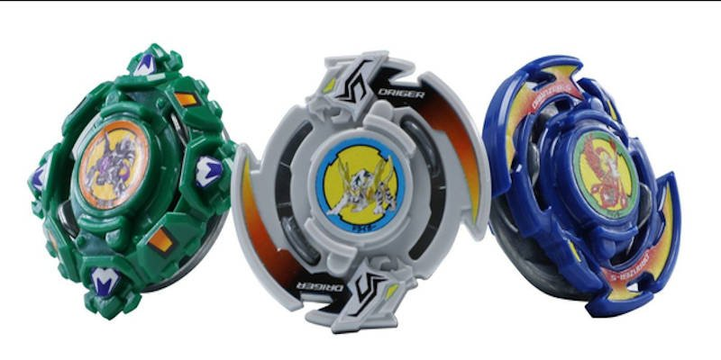 Some of the most popular 3D printable beyblades, including the driger