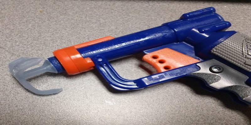 Grappling hook attachment for Nerf Gun