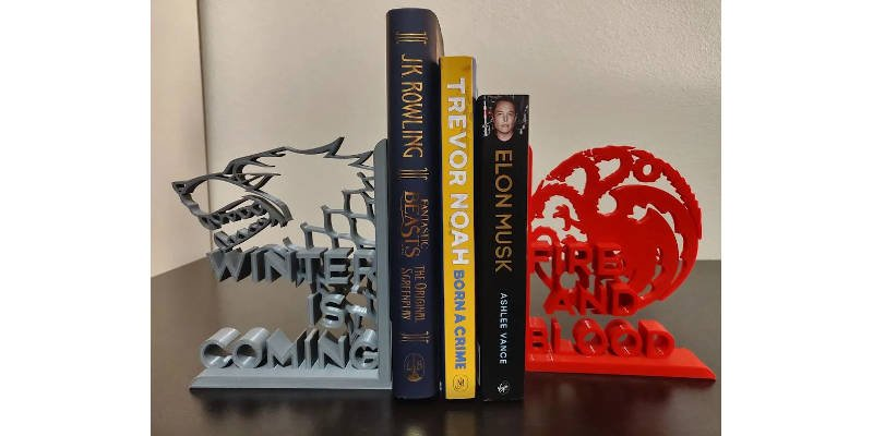 Best 3D Printed Gifts Game of Thrones Bookends