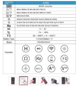 Multimeter digitalni RM408B 05
