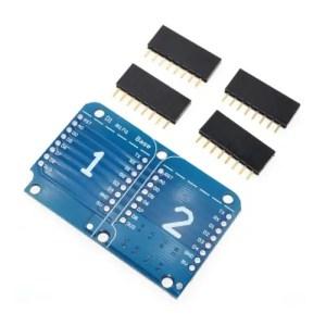 ESP32 D1 mini razširitev – dvojna ploščica 01