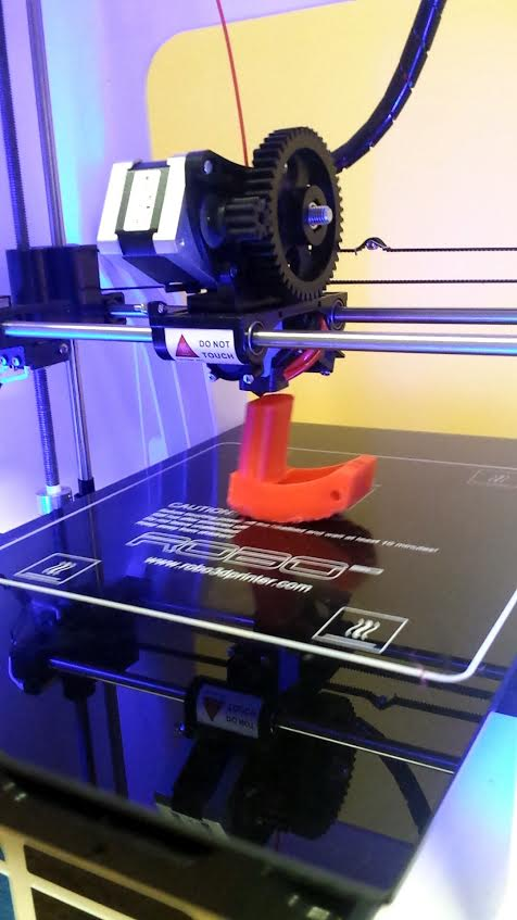 3D printing a prototype GoPro Mouth Mount.