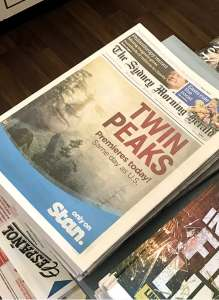 Stan: Twin Peaks - Newspaper Wrap - Graphic Design Sydney