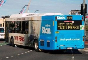 Twin Peaks: Stan - Bus Wrap - Graphic Design Sydney