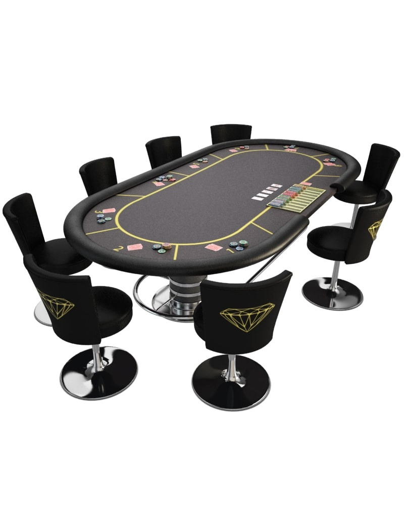 game table poker casino 3d model for download in max 2014 and obj