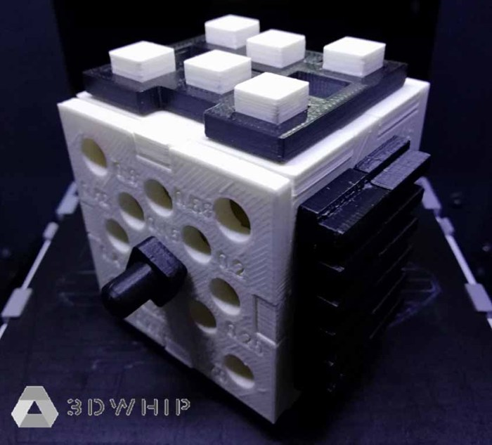 3D printed design guide cube created by 3DWhip