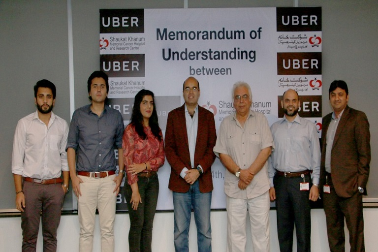 Uber Pakistan Signed MOU with Shaukat Khanum Cancer Hospital & Research Centre PR