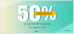 phonepe offer app 50% cb free mobile recharge