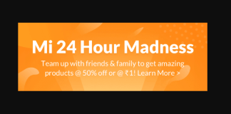 mi 24 hour madness offer product at rs1