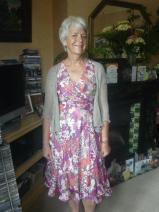 Sheila dressed up for wedding