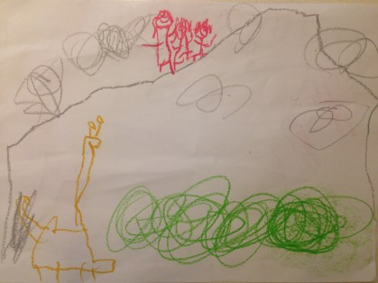 Samson's drawing of the climb