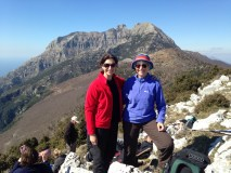 Jae and Sheila up a mountain in Italy!
