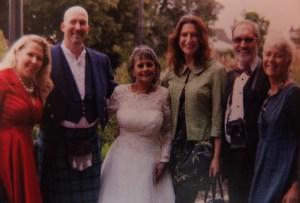 Rachael's wedding day