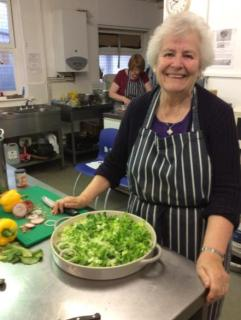Paula in the Catching Lives kitchen