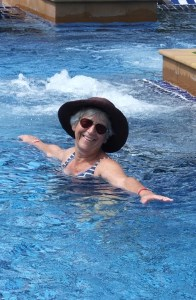 Sheila in swimming