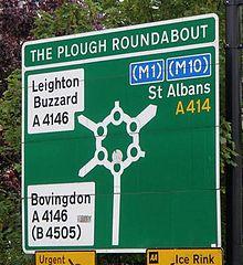 The magic roundabout in Hemel Hempstead