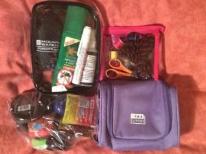 Waterproof bags of items