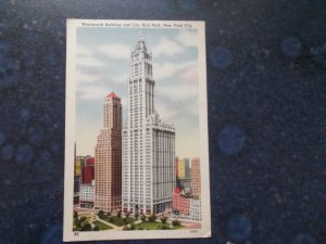 Postcard Grandfather sent from New York