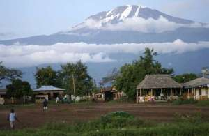 Kilimanjaro peak - it can be seen from more than 100 miles away