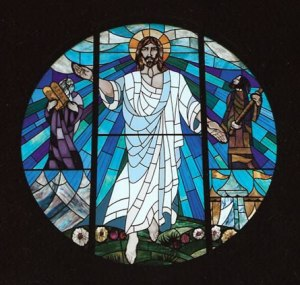 Stained glass window of the Transfiguration