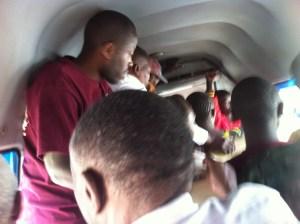 Inside the public bus